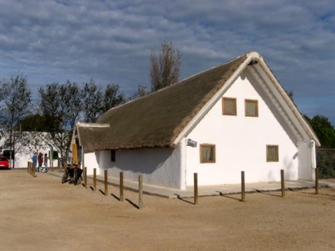 Casa de la Fusta, punto de información del parque.