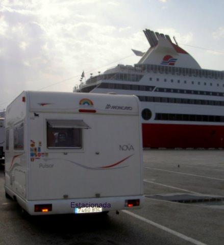 Esperando el ferry en Ancona