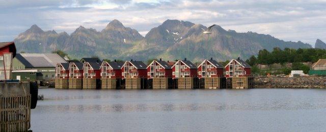 Casas de pescadores en Svolvaer (Lofoten)