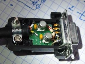 Dos 2N2222 en el conector DB9 hembra
