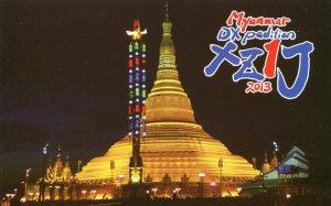 QSL de XZ1J, Myanmar