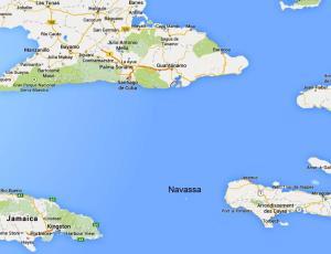 Situación de Navassa en el Caribe (Google Maps)
