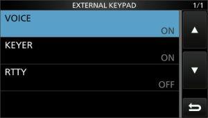 Pantalla de activación del teclado